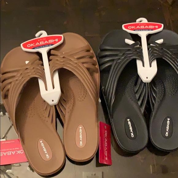 NWT set of large Okabashi sandals size 9.5-10.5